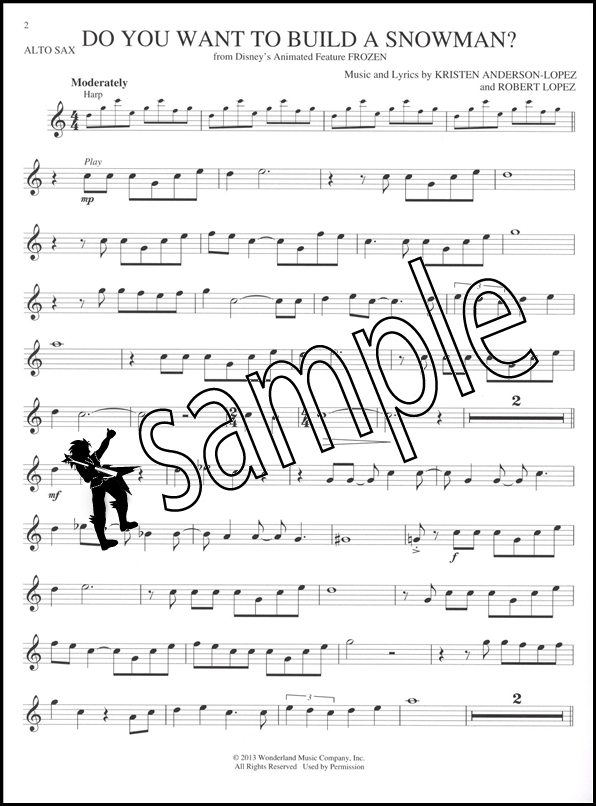 All Music Chords saxophone solo sheet music : Songs from Frozen, Tangled & Enchanted Alto Sax Play-Along Music ...