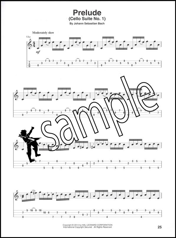 Guitar bach cello suite 1 guitar sheet music : J S Bach for Fingerstyle Ukulele | Hamcor