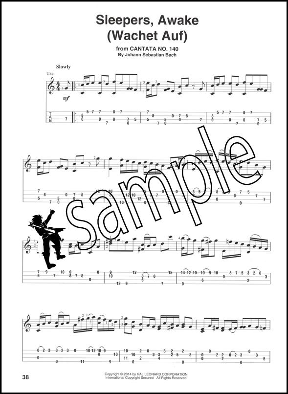 J S Bach For Fingerstyle Ukulele Tab Music Book 884088655907 Ebay