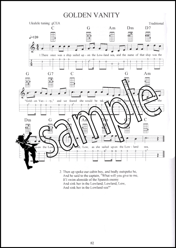 Nautical Songs For The Ukulele Chord Melody Tab Songbook Music Book