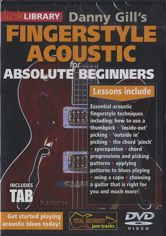Fingerstyle Acoustic for Absolute Beginners DVD | Hamcor