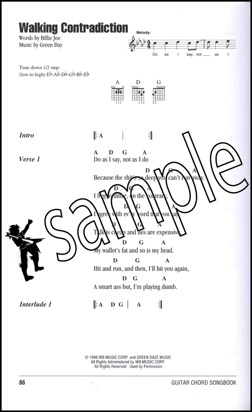 Green Day Guitar Chord Songbook | Hamcor