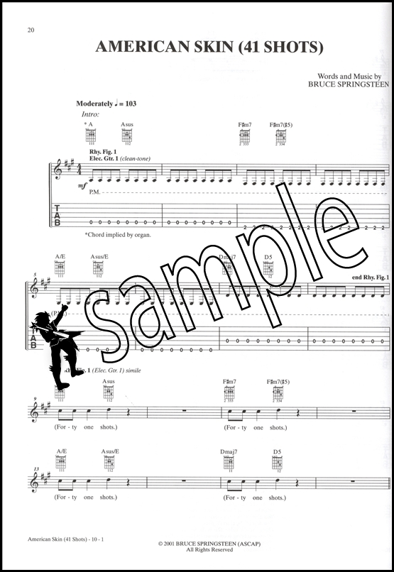 Bruce Springsteen High Hopes Guitar Songbook Edition TAB Music Book ...