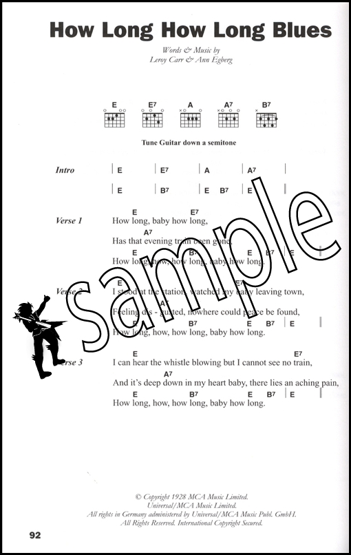 The Big Guitar Chord Songbook Blues Hamcor