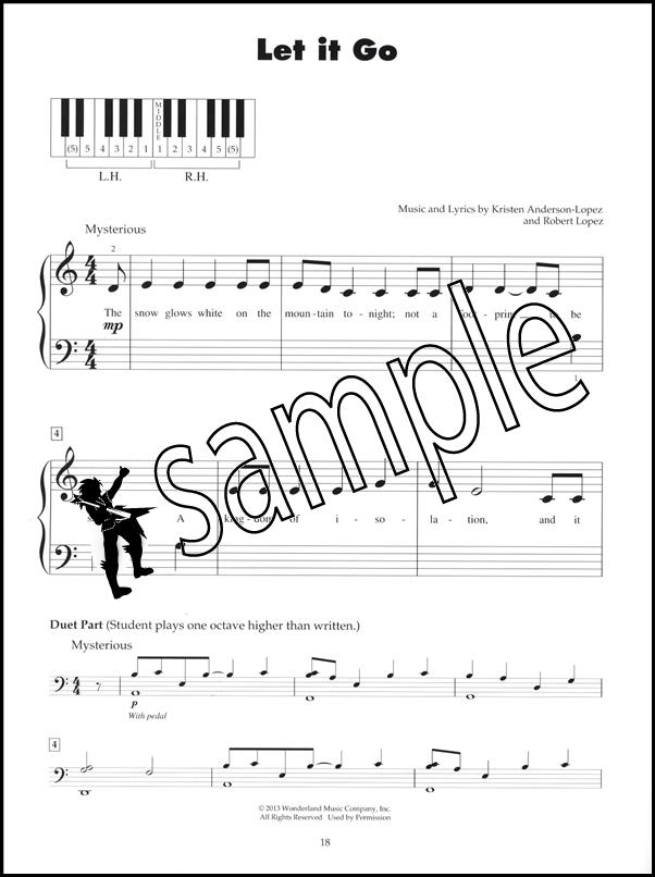 Lyric frozen let it go lyrics : Frozen Five 5-Finger Piano Very Easy Sheet Music Book | eBay