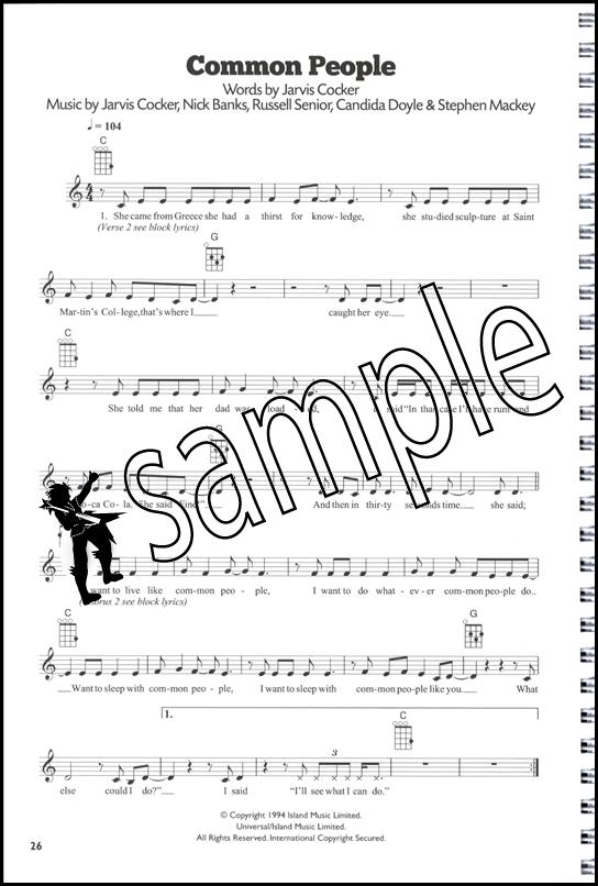101 Hits For Ukulele The Blue Book Melody Lyrics Chord Songbook Ebay