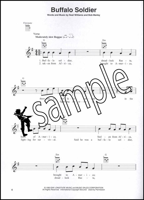 Bob Marley For Ukulele Chord Melody Songbook Music Book Ebay