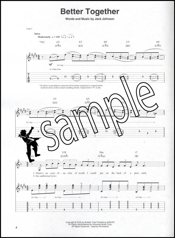 Jack Johnson Guitar Play-Along Book/CD | Hamcor