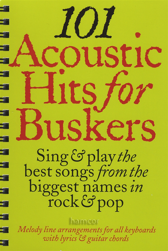 101 Acoustic Hits for Buskers Guitar / Keyboard Music Book Chord ...