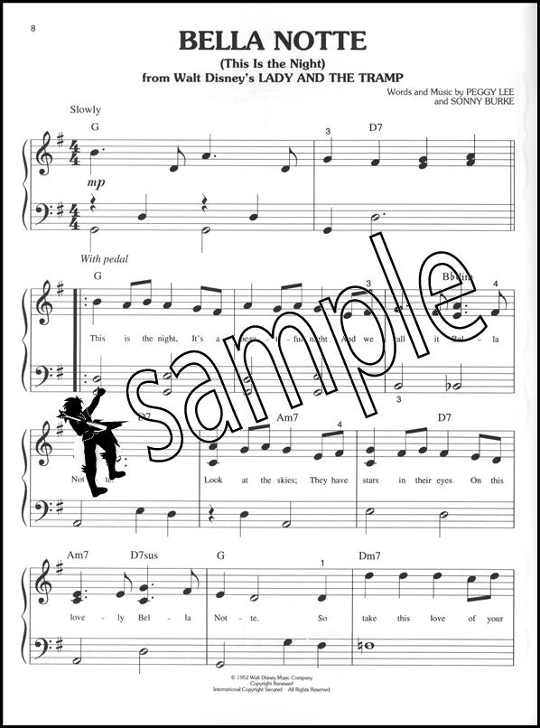 Piano piano note sheet : Songs From Disney Classics Big-Note Piano Very Easy Sheet Music ...