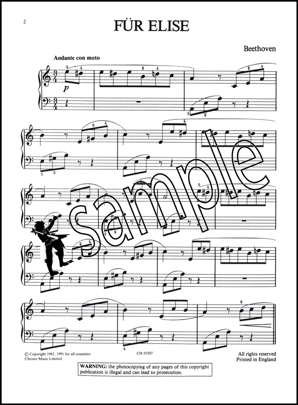 Beethoven Fur Elise Easy Piano Hamcor