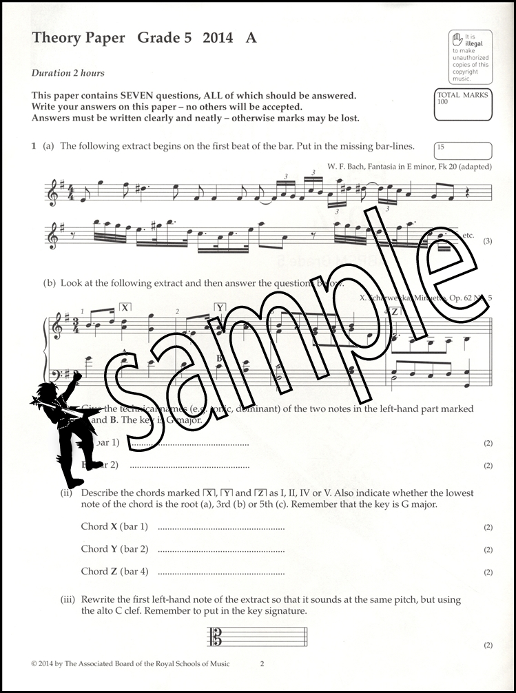 Image Result For Music Theory Grade Past Papers
