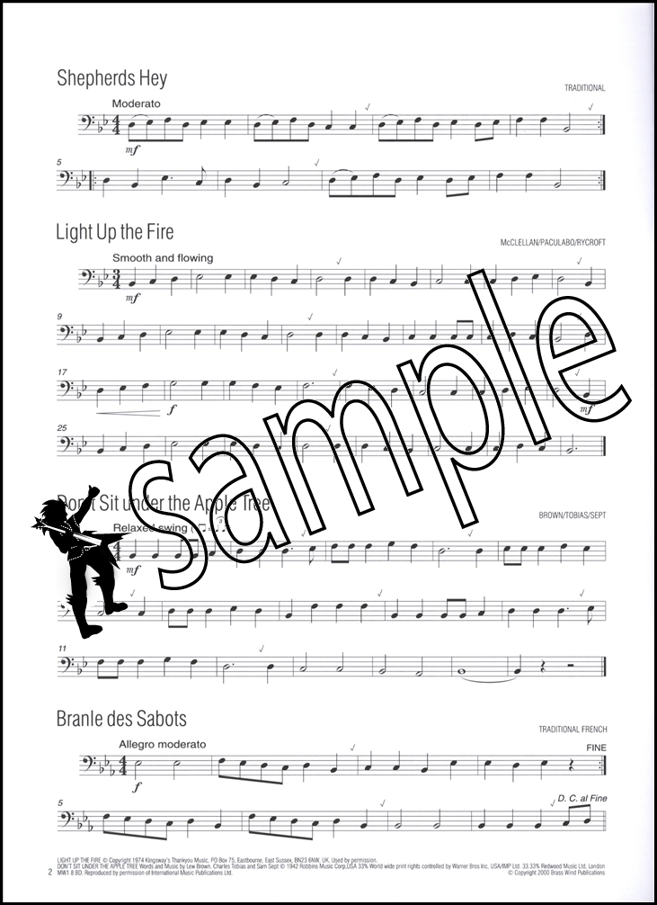 easy winners for trombone bass clef sheet music book 75 well known tunes ebay. Black Bedroom Furniture Sets. Home Design Ideas