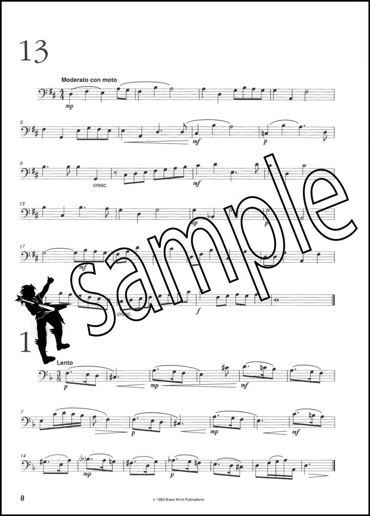 splinters of bone studies for trombone bass clef sheet music book ebay. Black Bedroom Furniture Sets. Home Design Ideas