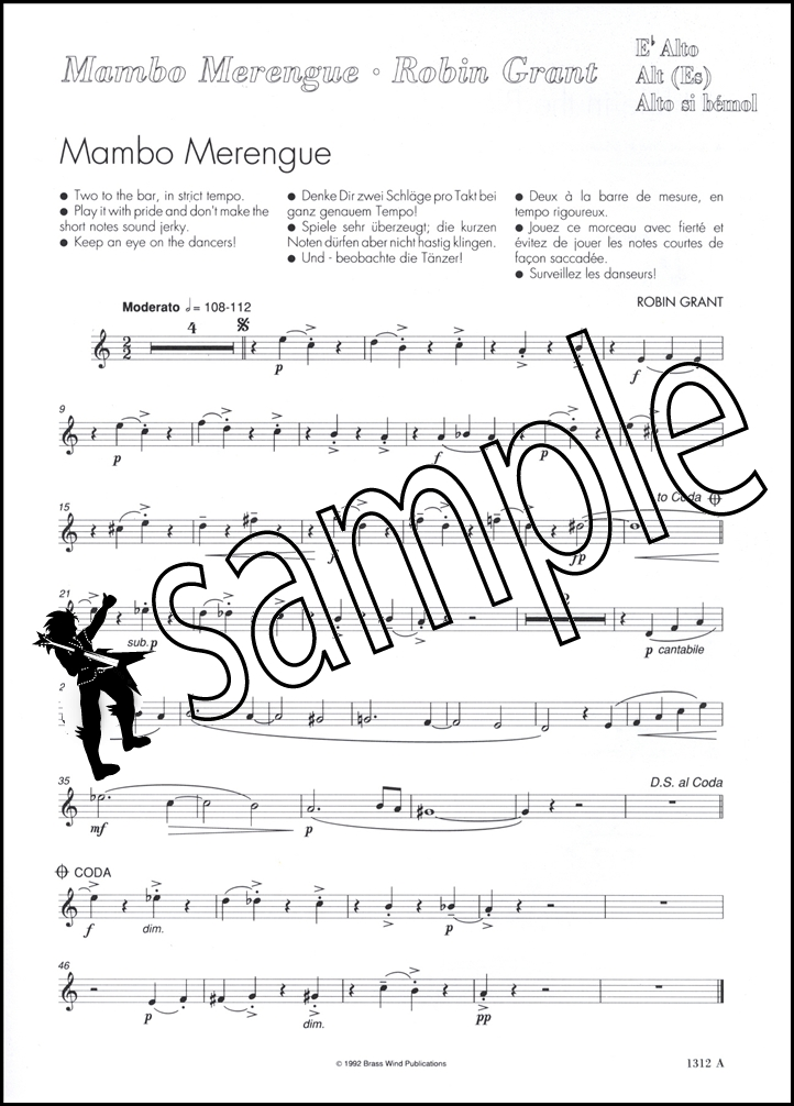 All Music Chords saxophone solo sheet music : Mambo Merengue Eb Jazzy Saxophone Solos Alto Sax Sheet Music Book ...