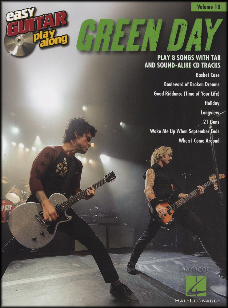 Green Day Easy Guitar Play Along Tab Music Book Backing Tracks Cd