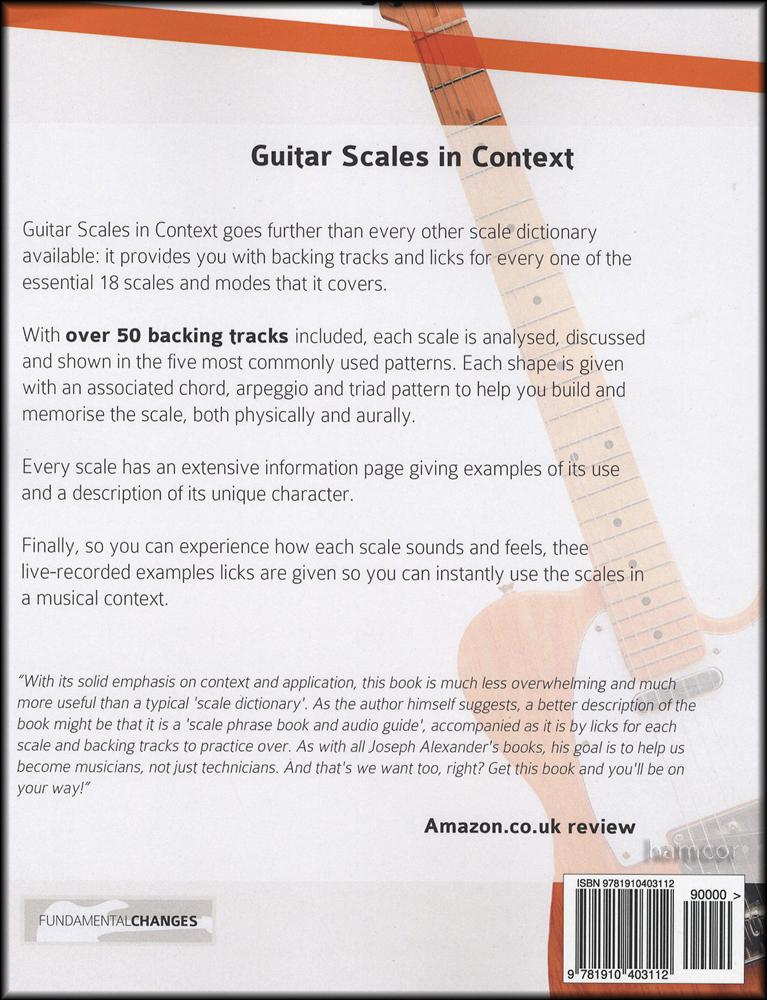 Guitar Scales in Context Book/Audio | Hamcor