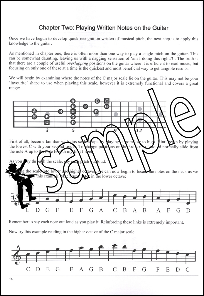 sight reading mastery for guitar book with audio learn how to read music ebay. Black Bedroom Furniture Sets. Home Design Ideas