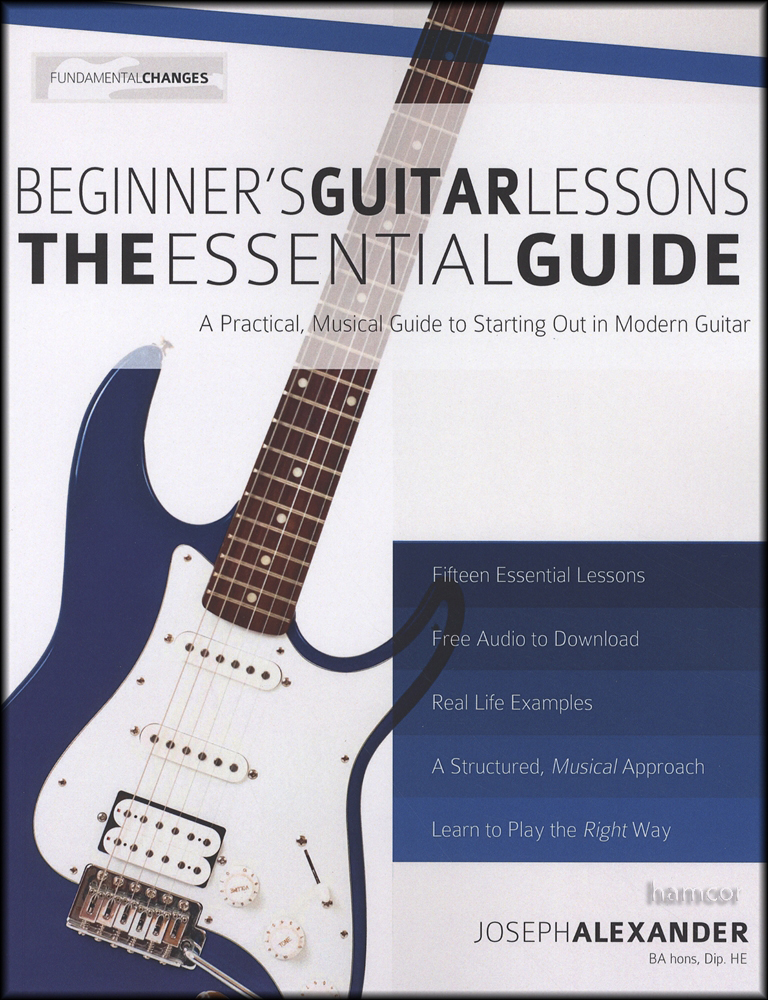 Guitar lesson book for beginners