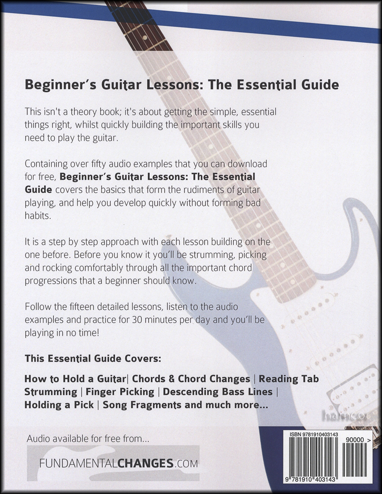 Beginner\'s Guitar Lessons The Essential Guide Book/Audio | Hamcor