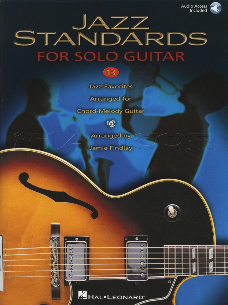 Jazz Standards for Solo Guitar TAB Music Book with Audio Chord ...