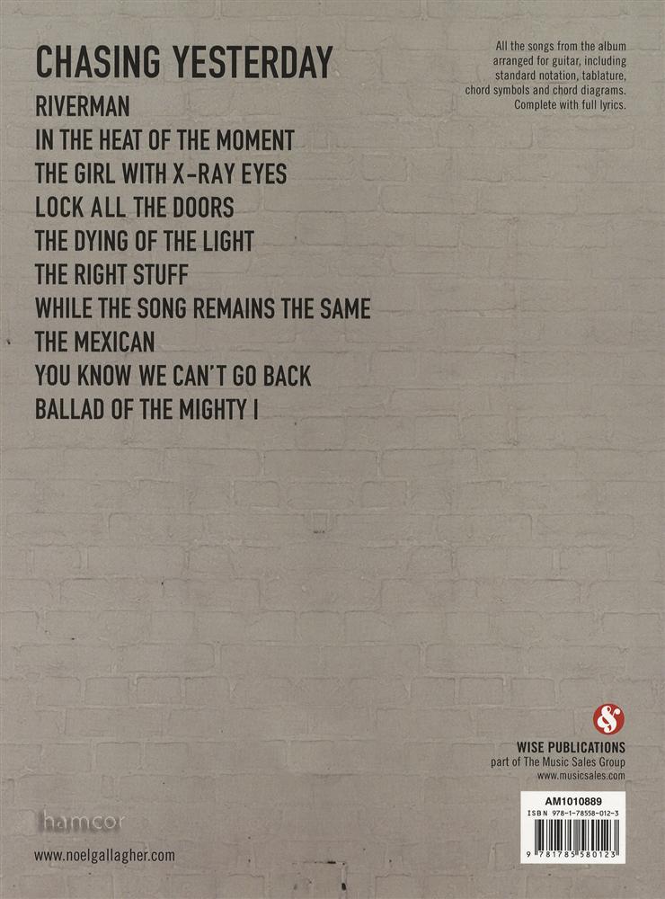 Chasing Yesterday Noel Gallagher\'s High Flying Birds   Hamcor