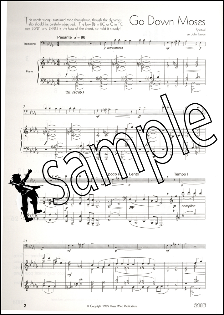 a little light music for trombone treble clef sheet music book ebay. Black Bedroom Furniture Sets. Home Design Ideas