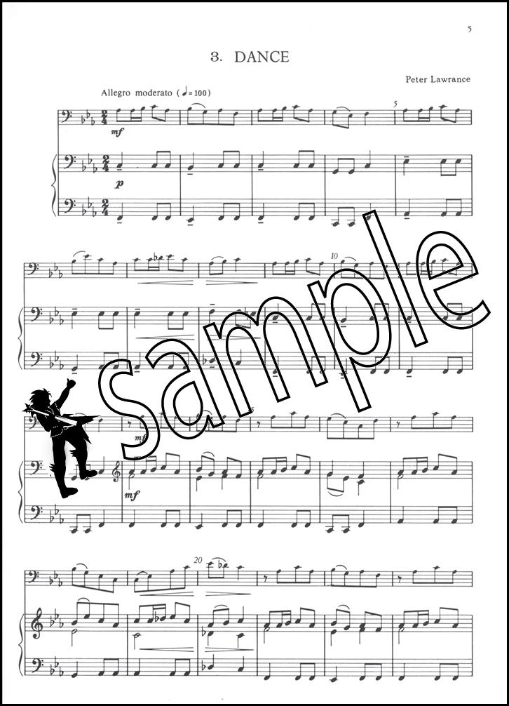 badinage for trombone or euphonium treble clef sheet music book inc piano accomp ebay. Black Bedroom Furniture Sets. Home Design Ideas