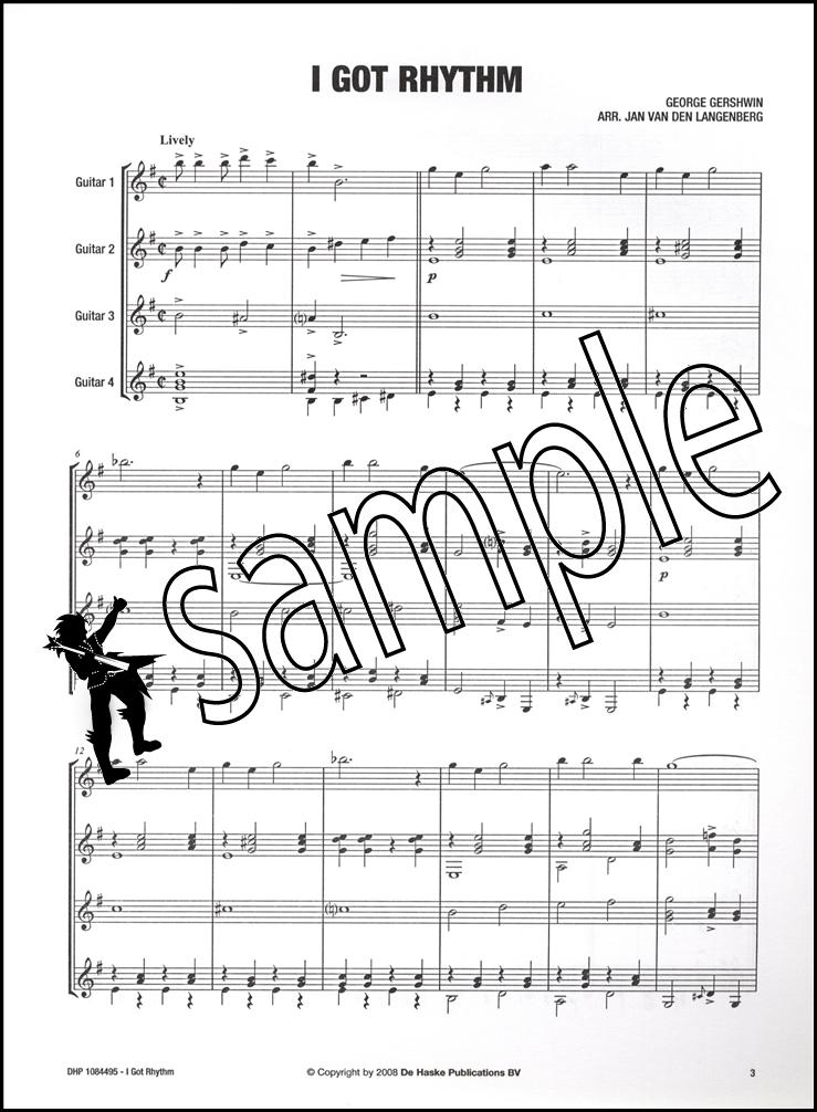 I Got Rhythm George Gershwin 4 Guitars | Hamcor
