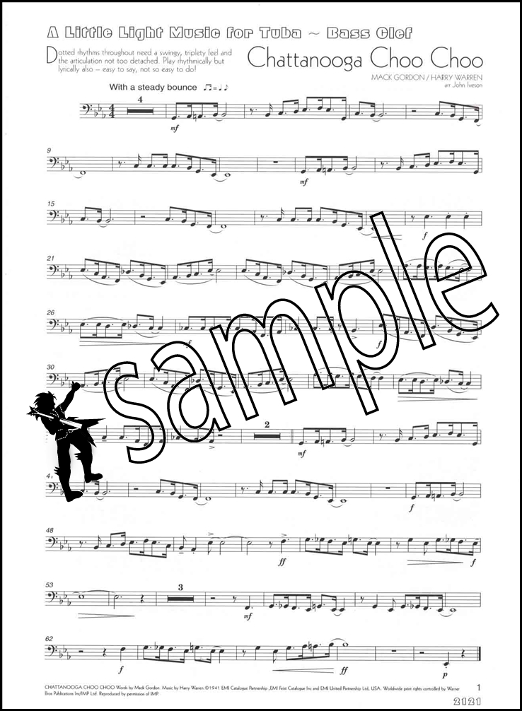 how to read bass clef tuba