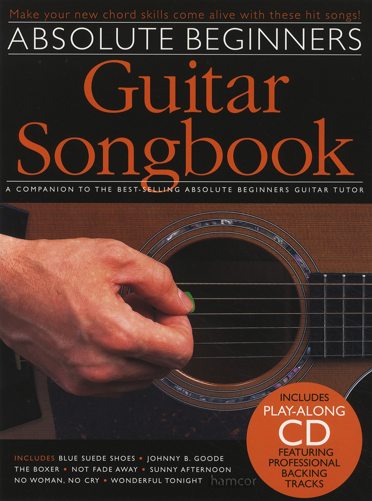 Absolute Beginners Guitar Songbook 1 Chord Song Book Play Along Cd