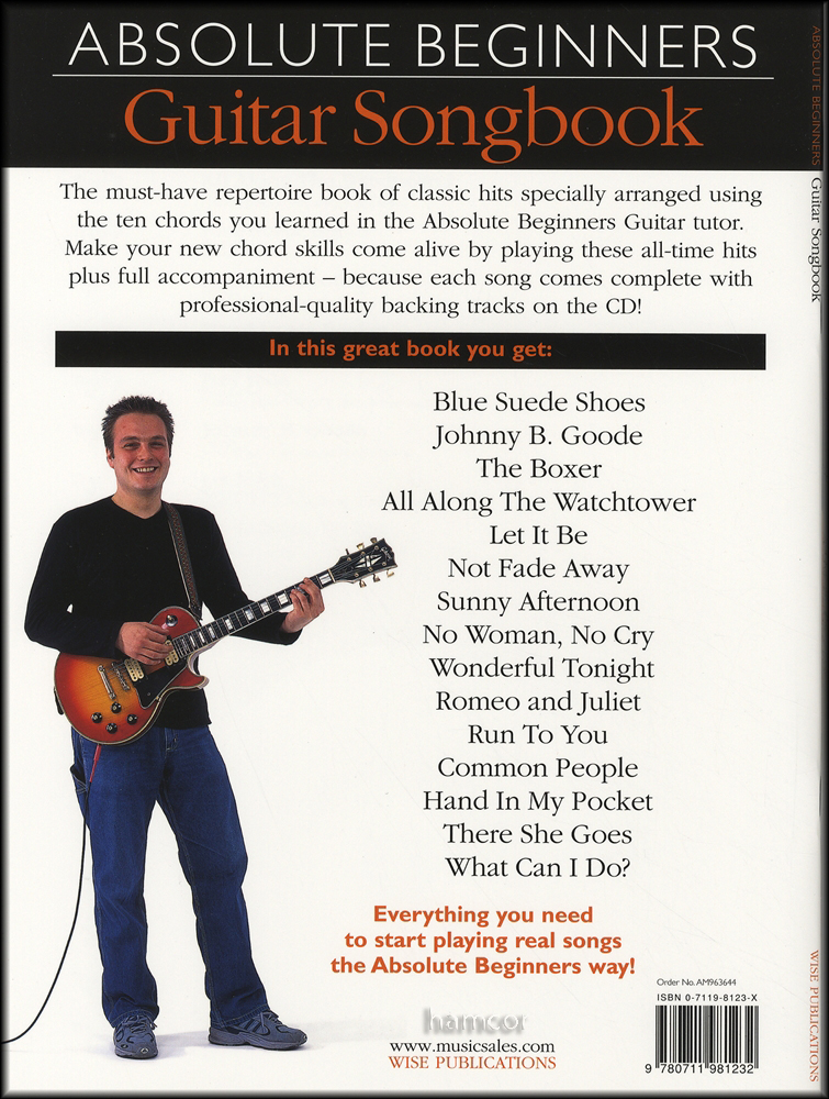 Absolute Beginners Guitar Songbook 1 Bookcd Hamcor