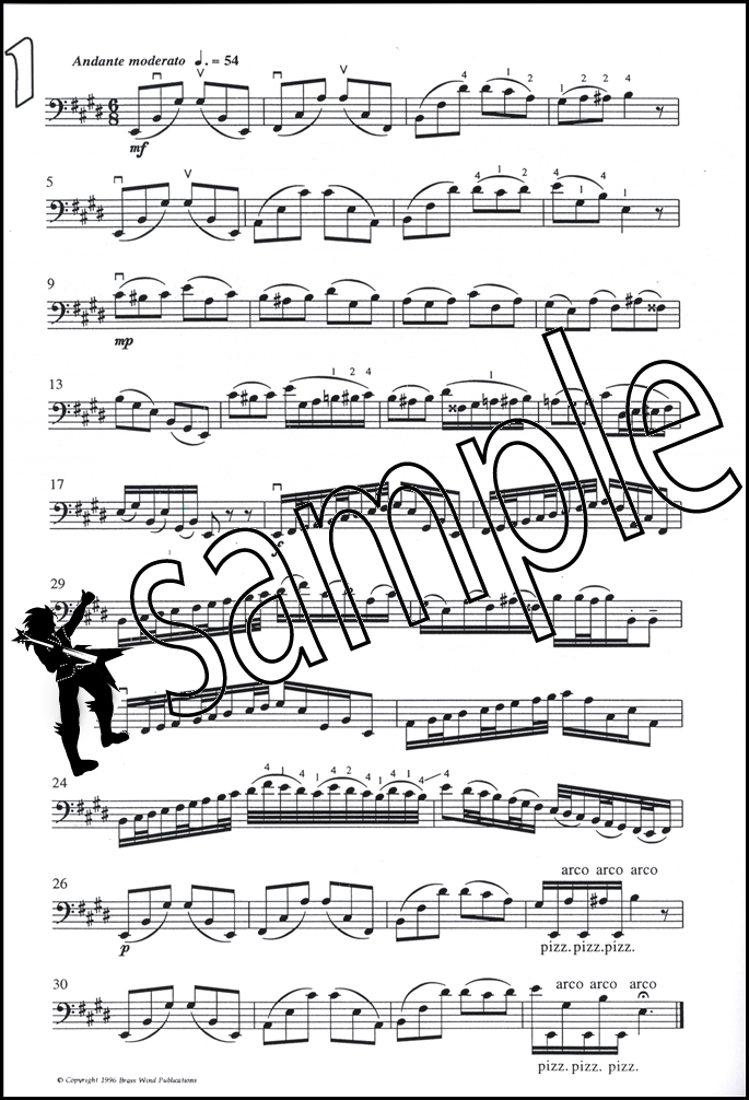 All Music Chords bass sheet music : Fantasy Pieces for Double Bass Sheet Music Book by Derek Bourgeois ...