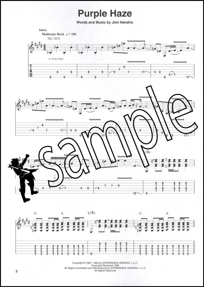 Jimi Hendrix Smash Hits Easy Guitar Play Along Tab Music Book With