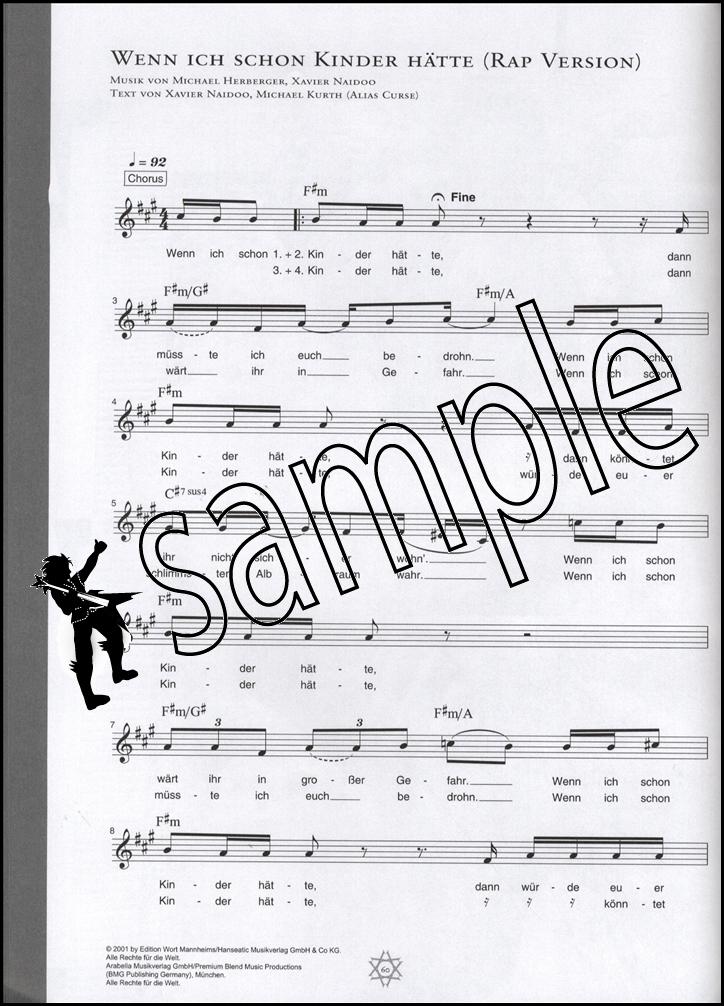 The Best Of Xavier Naidoo Music Book Part Piano Part Guitar Tab