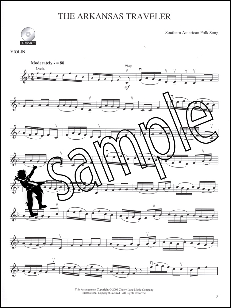 The World's Most Famous Melodies For Violin Bookcd: Arkansas Traveler Violin Sheet Music At Alzheimers-prions.com