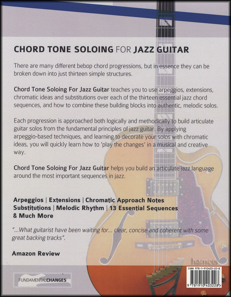 Chord Tone Soloing For Jazz Guitar Book/Audio | Hamcor