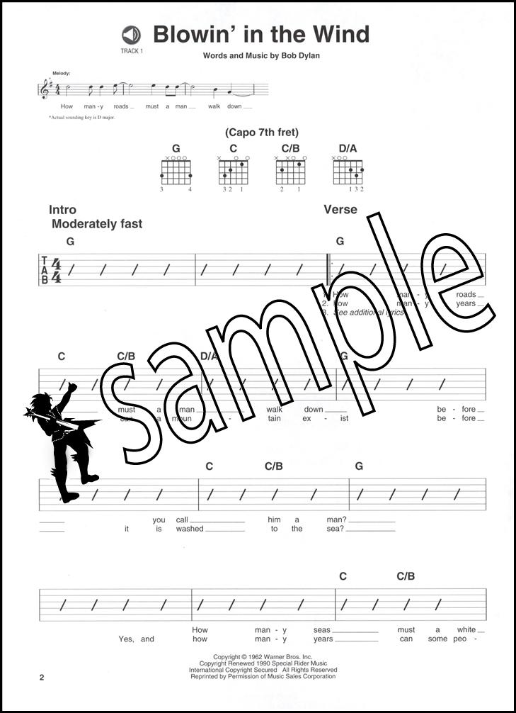 Folk Pop Easy Rhythm Guitar Chord & Melody Music Book/CD Volume 1 ...