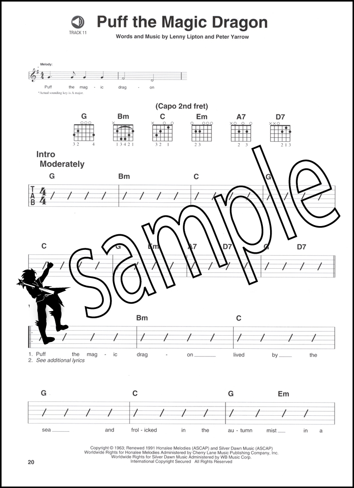 Folk Pop Easy Rhythm Guitar Chord & Melody Music Book/CD Volume 1 ...