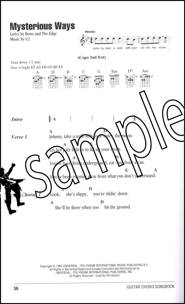 U2 Guitar Chord Songbook Hamcor