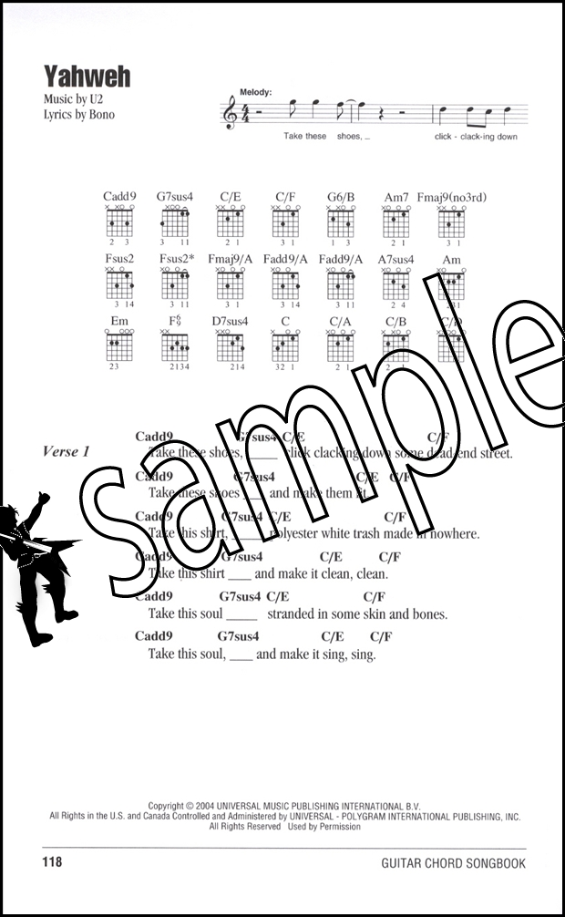 U2 Guitar Chord Songbook | Hamcor