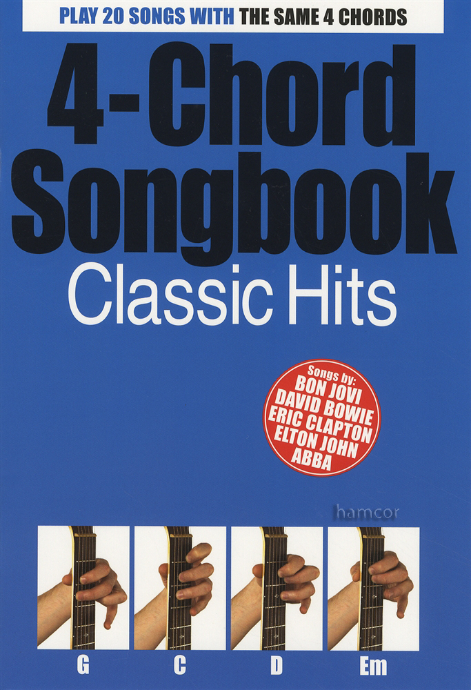 4 Chord Songbook Classic Hits Guitar The Police Abba Beatles David