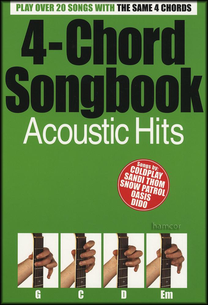 4 Chord Songbook Acoustic Hits Guitar U2 Coldplay The Beatles Oasis