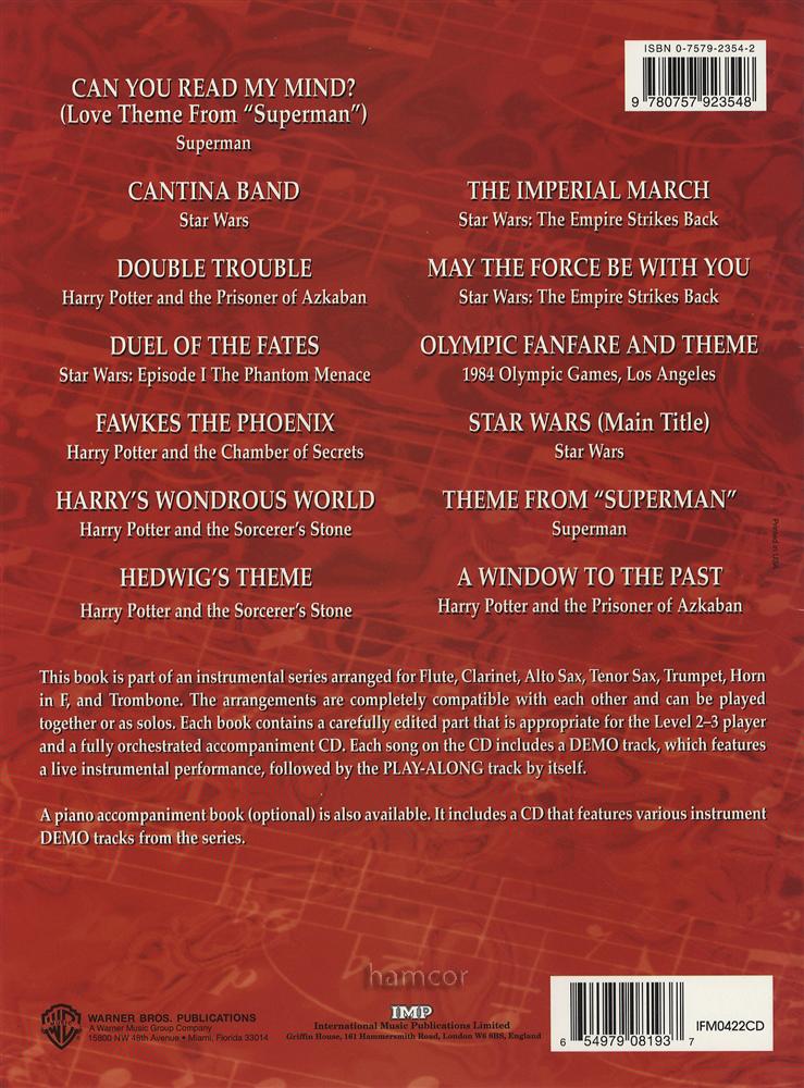 The Very Best of John Williams Trumpet Sheet Music Book/CD Harry ...