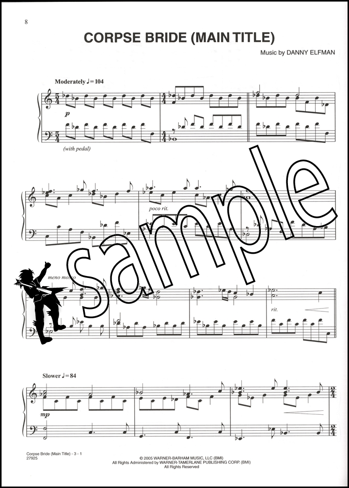 Piano corpse bride piano duet sheet music : Tim Burton's Corpse Bride Piano Vocal Chords | Hamcor
