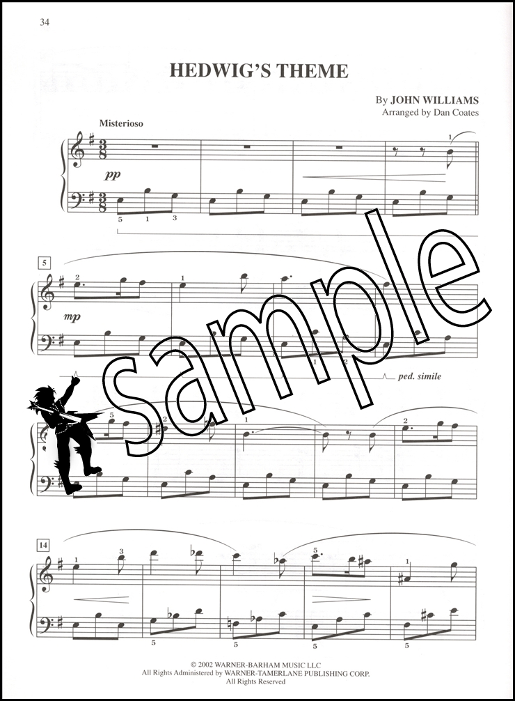 harry potter theme easy piano pdf