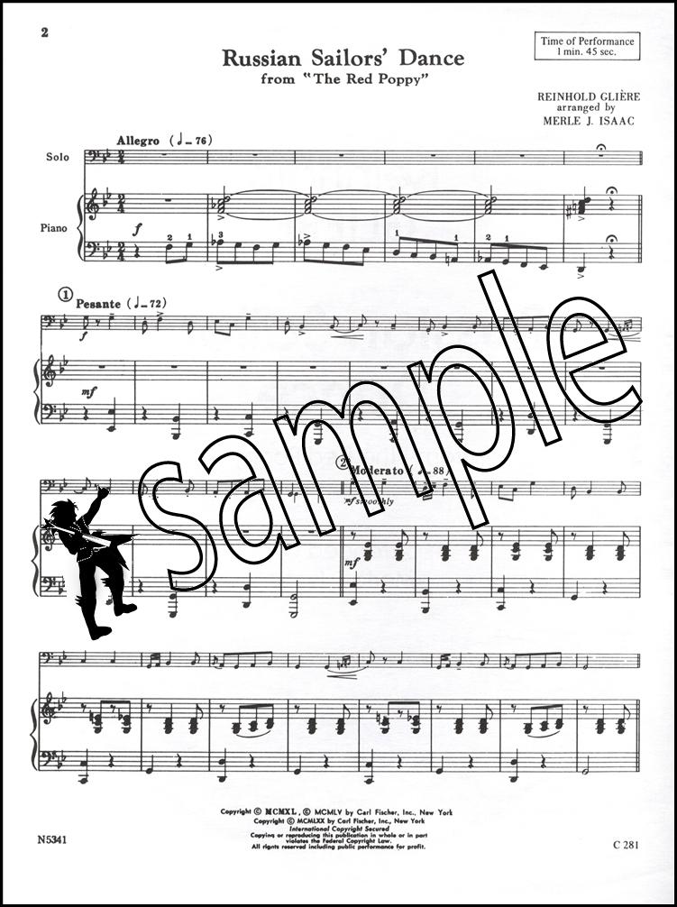 All Music Chords bass sheet music : Russain Sailors' Dance Double String Bass Sheet Music Reinhold ...