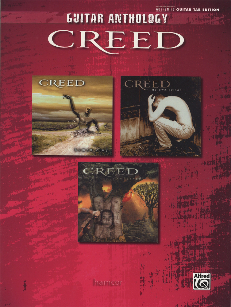 Creed Guitar Anthology TAB Sheet Music Book Bullets Lullaby Higher ...