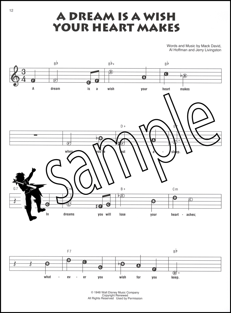 Disney Cinderella Recorder Fun Sheet Music Book Motion Picture ...