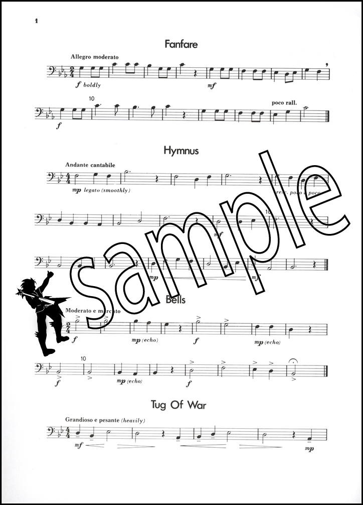 up front for trombone sheet music book melodic studies 1 bass clef john edney ebay. Black Bedroom Furniture Sets. Home Design Ideas